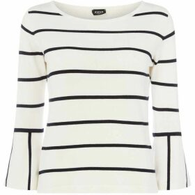 Emme Poldo flared cuff sweater - White