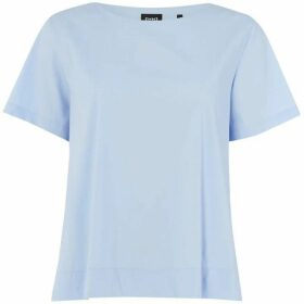 Emme Red crew neck short sleeve top - Sky Blue