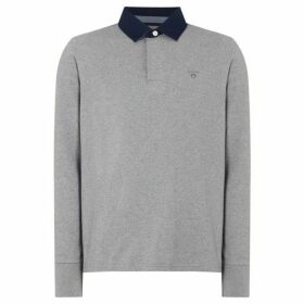 Gant Rugby Plain Long Sleeve Shirt - Grey