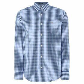 Gant Pinpoint Oxford Gingham Shirt - Blue