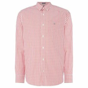 Gant Pinpoint Oxford Gingham Shirt - Red