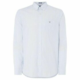 Gant Sh Ls Poplin Stripe Putty Xxl - Light Blue