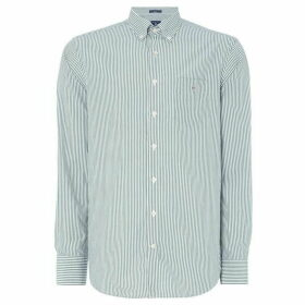 Gant Banker Striped Shirt - Bottle Green