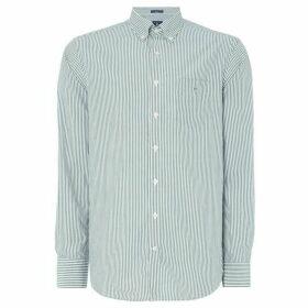 Gant Banker Striped Shirt - Bottle Green