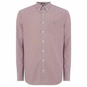 Gant Banker Striped Shirt - Dark Pink