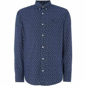 Gant All Over Star Print Shirt - Navy