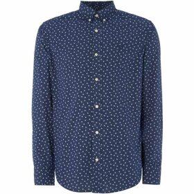 Gant All Over Star Print Shirt - Navy