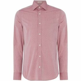 Gant All Over Dobby Design Shirt - Burgundy