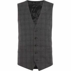 Kenneth Cole Douglas slim fit check suit waistcoat - Grey