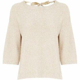 Marella Mirella sparkle tie back knit - Beige