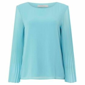 Marella Jajce flared sleeved top - Light Blue