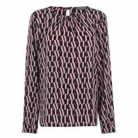 Marella Isidoro roung neck long sleeve blouse - Pink