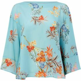 Marella Mirca bell sleeve top - Blue