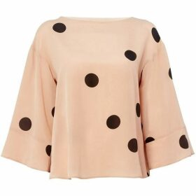 Marella Mirca bell sleeve top - Pink