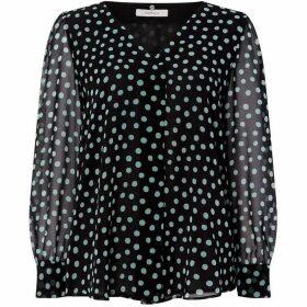 Marella Brian spot blouse - Black