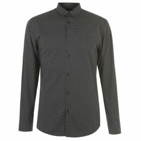 Selected Homme Slim all over printed shirt - Black