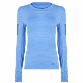 adidas Long Sleeve Runner T Shirt Ladies - Real Blue