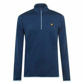 Lyle and Scott Lyle QZ Midlayer Snr 02 - Deep Fjord