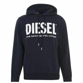 Diesel Text Logo OTH Hoodie - Navy 81E