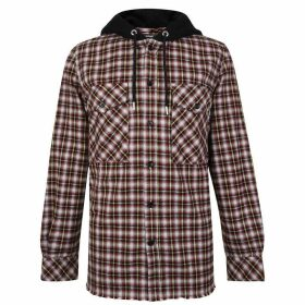 DIESEL Bonny Hooded Shirt Sweatshirt - Red Check 900