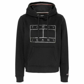 Tommy Jeans Essesntial Logo Hoodie - TOMMY BLACK