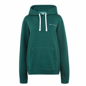 Jack Wills Baslow Back Graphic Hoodie - Green