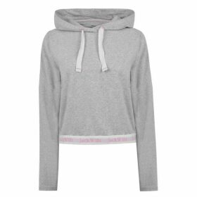 Jack Wills Bayswater Side Stripe Popover Hoodie - Grey Marl