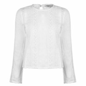 Jack Wills Marygold Lace Top - White