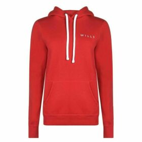 Jack Wills Baslow Back Graphic Hoodie - Red