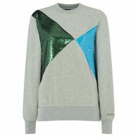 Sportmax Code Belinda crew neck sweatshirt - Grey