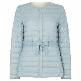 Max Mara Weekend Giacomo collarless quilted jacket - Sky Blue