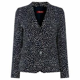 Max Mara Studio Lodola single breast jacket - Navy
