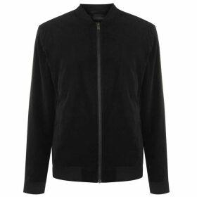 Selected Homme Velour bomber jacket - Black