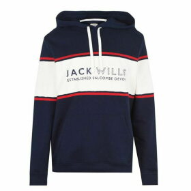 Jack Wills Howden Cut And Sew Hoodie - Navy