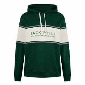 Jack Wills Howden Cut And Sew Hoodie - Evergreen