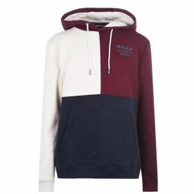 Jack Wills Crewe Cut And Sew Hoodie - Damson