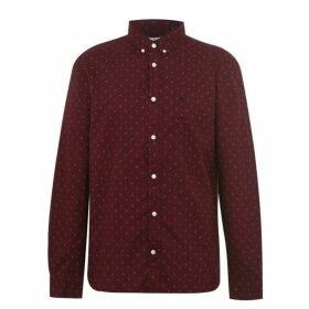 Jack Wills Douglas Oxford Dot Print Shirt - Damson