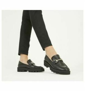 Office Fixate- Chunky Trim Loafer BLACK LEATHER