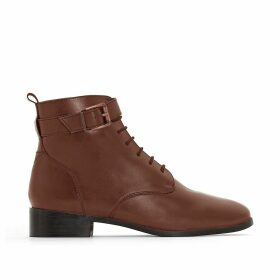 Wide Fit Leather Boots