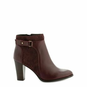 Vermina Bi High-Heeled Leather Ankle Boots