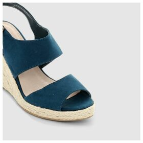 High Heeled Reptile Effect Sandals