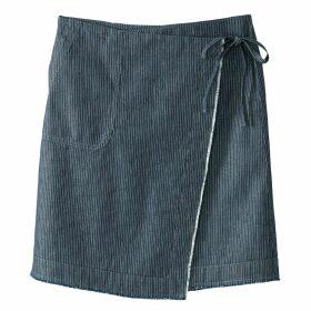 Denim Wrapover Skirt