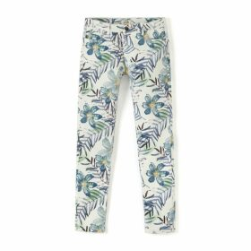 Slim Fit Tropical Print Trousers