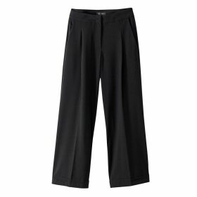 Wide Cropped Trousers, Length 25.5