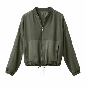 Dual Fabric Bomber Jacket