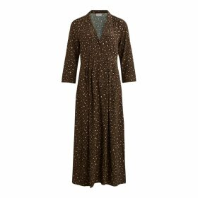 Leopard Print Maxi Dress with Long Sleeves