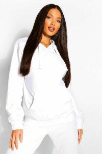 Womens Tall Solid Oversized Hoody - White - S/M, White