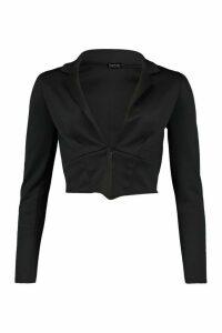 Womens Tall Corset Style Blazer - Black - 18, Black