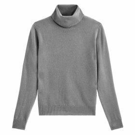 Wool Fine Knit Jumper with Turtleneck