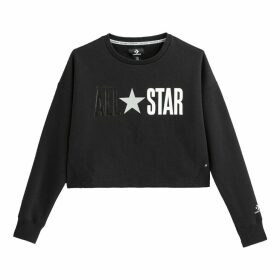 Short All Star Sweatshirt in Cotton Mix with Logo Print